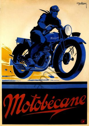 Motobecane - French Motorcycling Poster